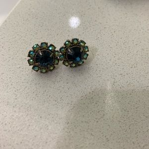 J. Crew stud jeweled earrings